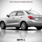 2017 Maruti Swift Dzire (3rd gen) white rendered