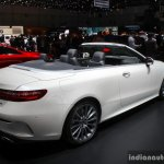 2017 Mercedes E-Class Cabriolet rear three quarter at the 2017 Geneva Motor Show