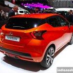2017 Nissan Micra rear quarter Geneva Motor Show Live