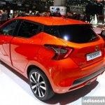 2017 Nissan Micra rear three quarter Geneva Motor Show Live