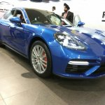2017 Porsche Panamera front three quarters