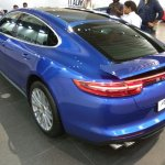 2017 Porsche Panamera rear three quarters