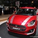 2017 Suzuki Swift (2017 Maruti Swift) Boosterjet front quarter Geneva Live