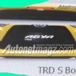 2017 Toyota Agya TRD S (facelift) rear spoiler and front bumper