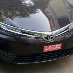 2017 Toyota Corolla Altis (facelift) front spied ahead of launch