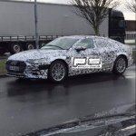 2018 Audi A7 front three quarters spy shot Denmark