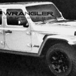 2018 Jeep Wrangler (4th gen) front three quarter revealed in leaked image