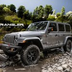 2018 Jeep Wrangler (4th gen) grey rendering