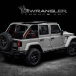 2018 Jeep Wrangler (4th gen) rear three quarter rendering