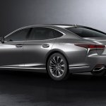 2018 Lexus LS rear three quarters