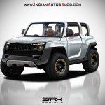 2020 Mahindra Thar Concept front quarter IAB Rendering