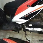 Aprilia SR125 spyshot side engine cover sticker