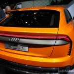 Audi Q8 Sport Concept taillamp at the 2017 Geneva Motor Show Live