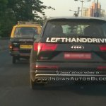 Audi SQ7 TDI (LHD) rear spied testing in Mumbai