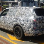 BMW X7 rear three quarters left side spy shot