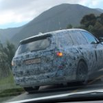 BMW X7 rear three quarters spy shot South Africa