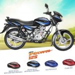 Bajaj Discover 125 Black with blue graphics
