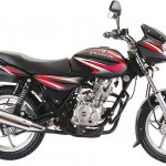 Bajaj Discover 125 Black with red graphics