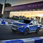 Chevrolet Colorado High Country STORM front three quarters in motion
