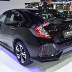 Honda Civic Hatchback rear quarter at the BIMS 2017