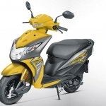 Honda Dio BSIV studio yellow