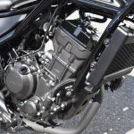 Honda Rebel 250 engine at Osaka Motorcycle Show