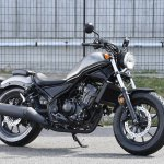 Honda Rebel 250 front three quarter grey at Osaka Motorcycle Show
