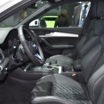 India-bound 2017 Audi Q5 front cabin at the BIMS 2017