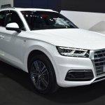 India-bound 2017 Audi Q5 front quarter at the BIMS 2017