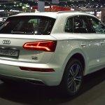 India-bound 2017 Audi Q5 rear quarter at the BIMS 2017