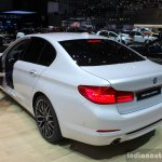 India-bound 2017 BMW 5 Series rear quarter at the 2017 Geneva Motor Show Live