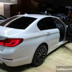 India-bound 2017 BMW 5 Series rear three quarter at the 2017 Geneva Motor Show Live