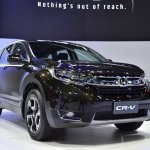 India-bound 2017 Honda CR-V 7-seater front quarter at the BIMS 2017