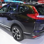 India-bound 2017 Honda CR-V 7-seater rear three quarter at the BIMS 2017