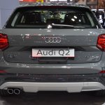 India-bound Audi Q2 rear at the BIMS 2017