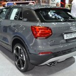 India-bound Audi Q2 rear quarter at the BIMS 2017