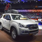 India-bound Isuzu MU-X front three quarter at the BIMS 2017