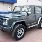 India's first Force Gurkha to Mercedes G Wagen conversion front quarter