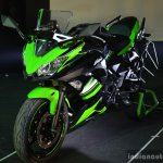 Kawasaki Ninja 650 front cowl at India launch