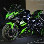 Kawasaki Ninja 650 front three quarter at India launch