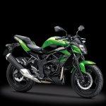 Kawasaki Z250SL green front three quarter single