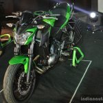 Kawasaki Z650 front three quarter left at India launch
