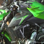 Kawasaki Z650 tank extension at India launch