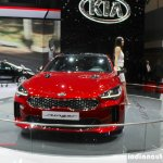 Kia Stinger front at the 2017 Geneva Motor Show