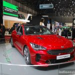 Kia Stinger front quarter at the 2017 Geneva Motor Show