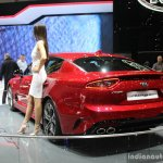 Kia Stinger rear quarter at the 2017 Geneva Motor Show