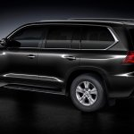Lexus LX 450d rear three quarters left side