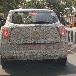 Mahindra S201 rear compact SUV spotted testing in Chennai
