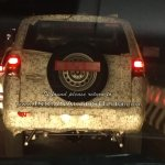 Mahindra TUV500 (Mahindra TUV300 XL) rear spy shot