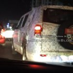 Mahindra TUV500 (Mahindra TUV300 XL) rear three quarters spy shot